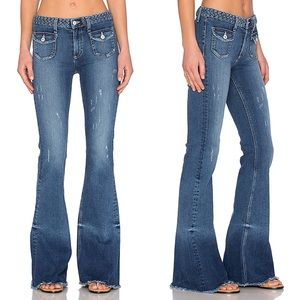 Tularosa Penelope Wide Leg Flare Jeans Ankara 25